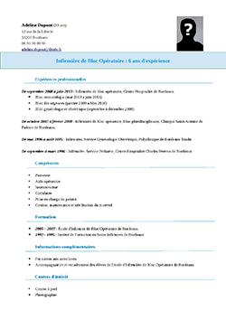 Exemple de CV IBODE (Infirmier de Bloc Opératoire Diplômé ...