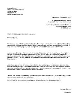 Modele Exemple De Lettre De Motivation Brancardier Staffsante