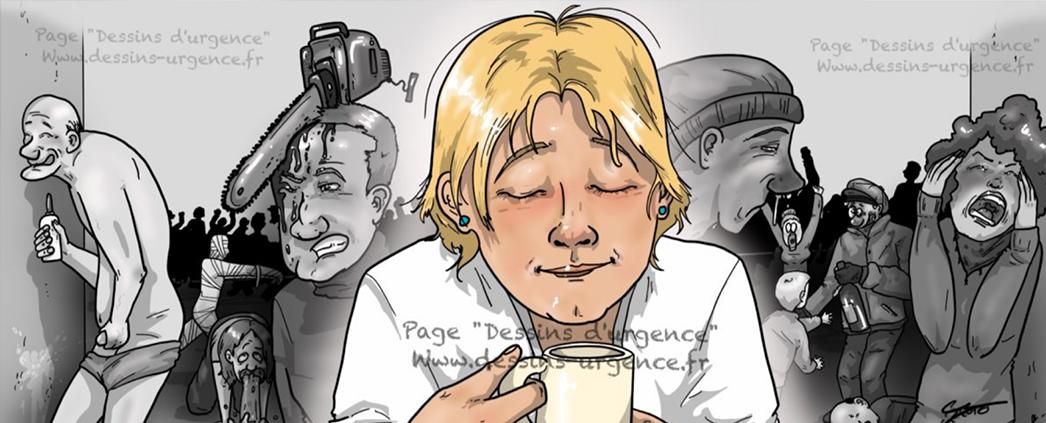 dessins d u2019urgence   le quotidien d u2019une infirmi u00e8re en bd